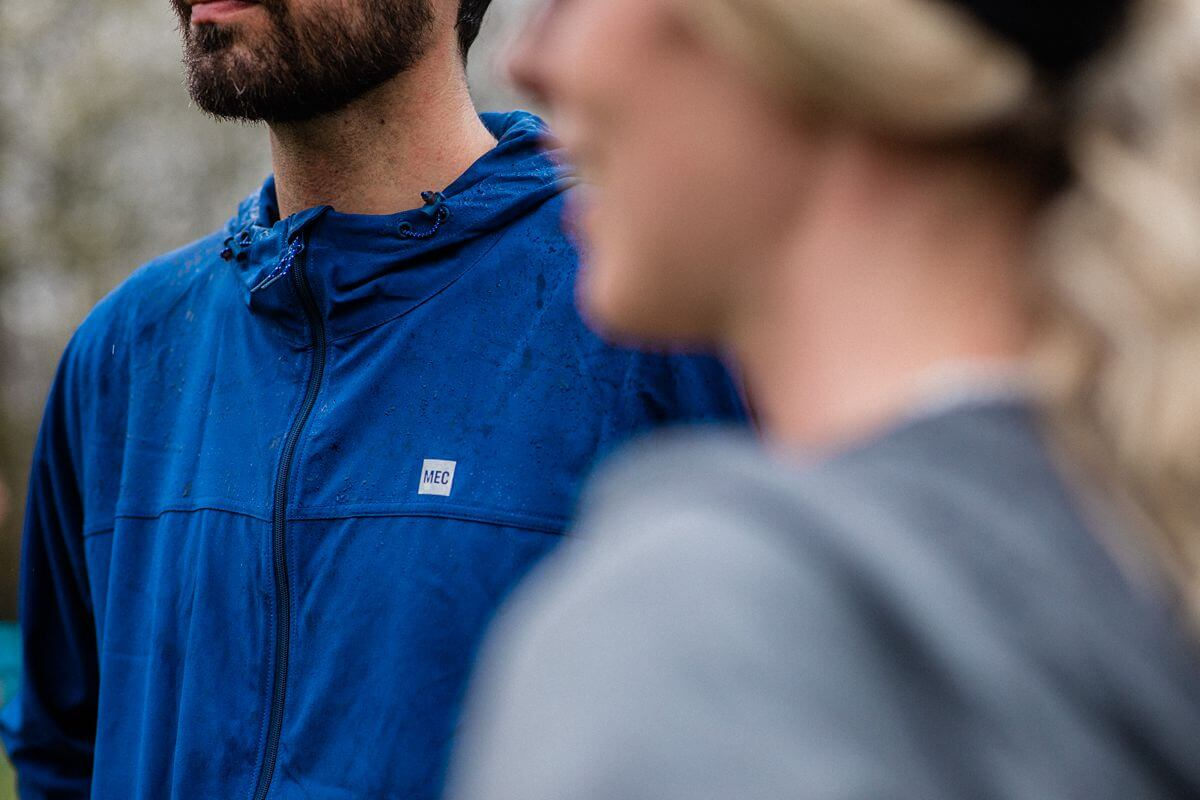 Mec branded running raincoat