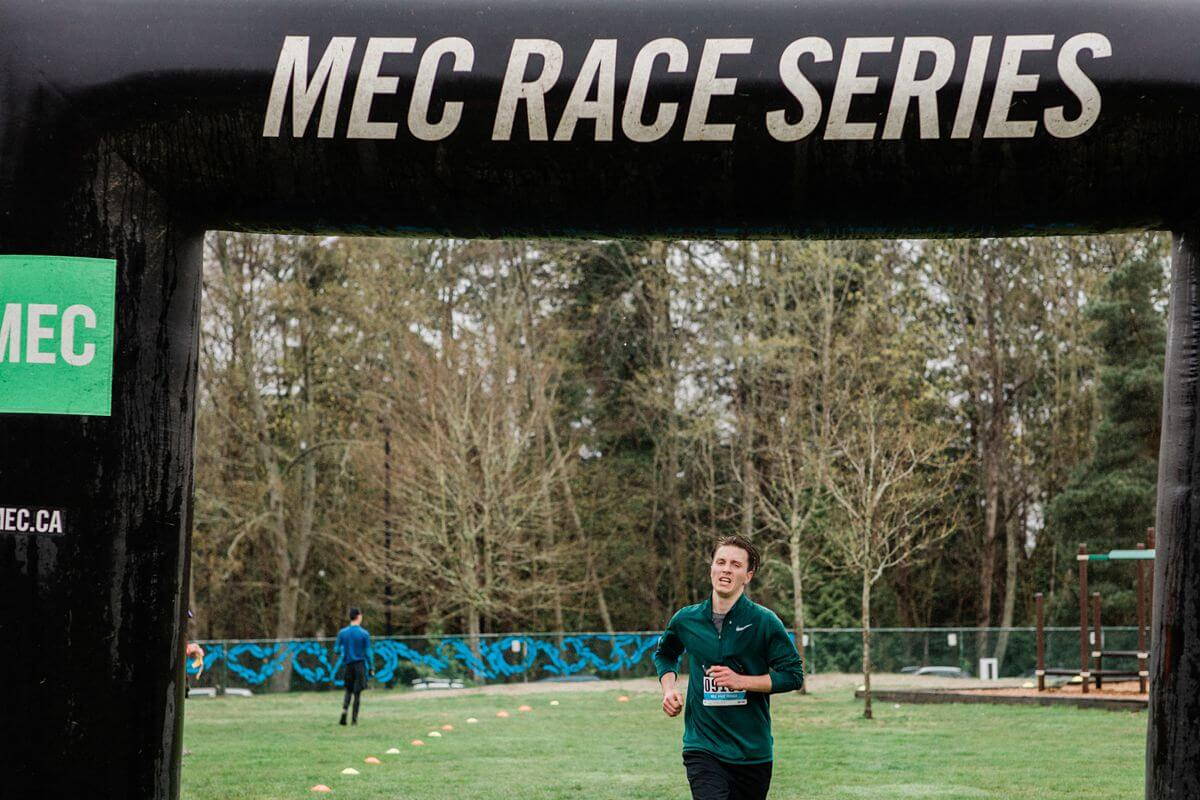 Runner at the finish line of Mec Race