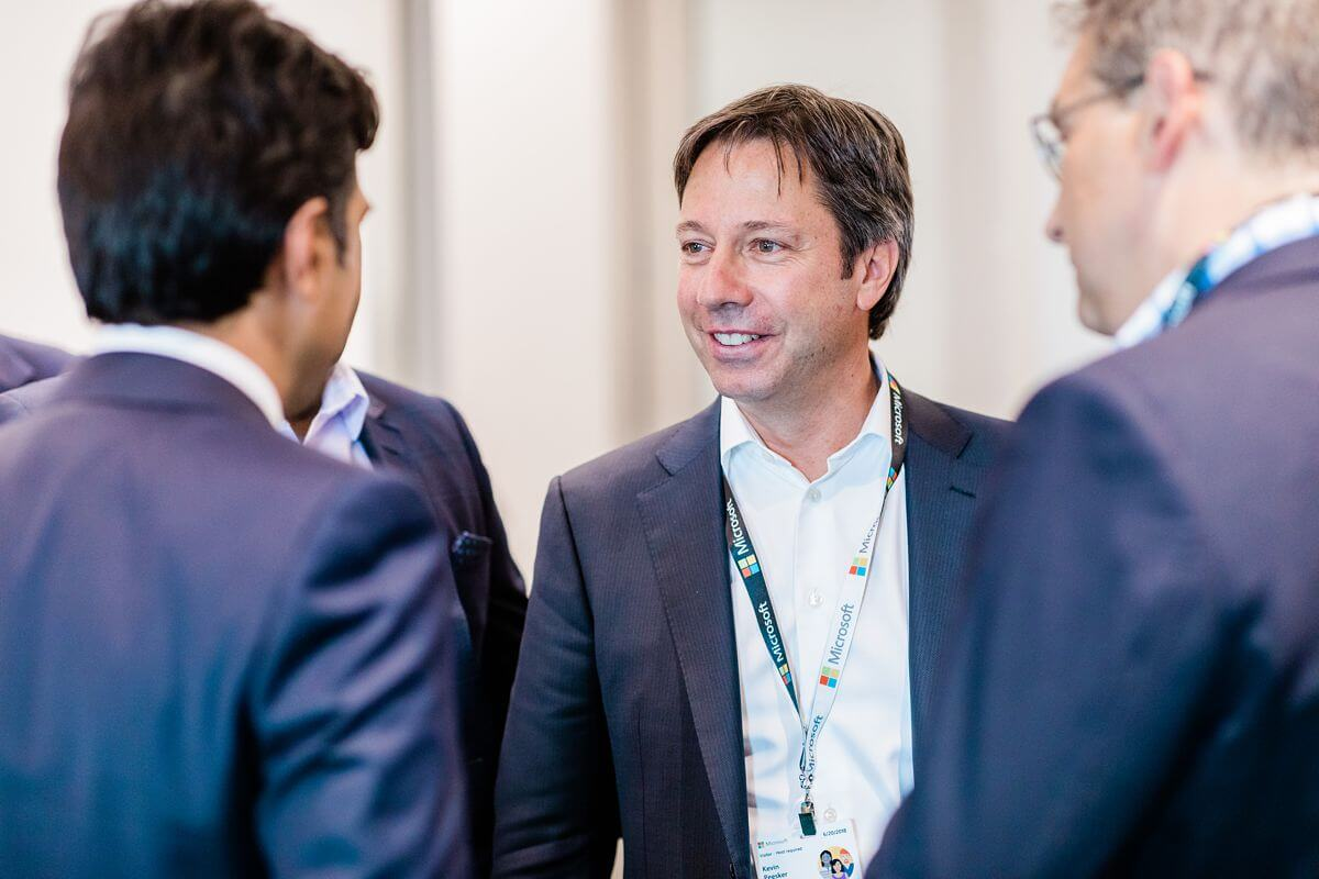 Microsoft Canada President Kevin Peesker at corporate event